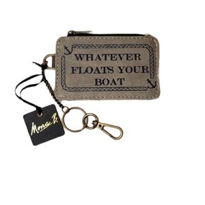 Mona B ID Holder With Zip Pocket And Keychain